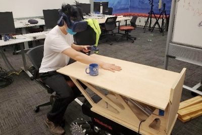CHCI Playdate — Using Robotic Platforms to provide Large Scale Haptics in VR