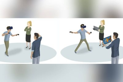 VRViewfinder - Engaging bystanders in VR-based Interactive Media Using Auxiliary Viewing Devices