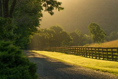 Soft light reveals the beauty of landscape in rural Virginia.