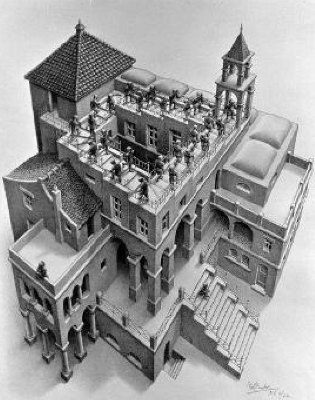 The Recursions of Escher: Between Art and Science
